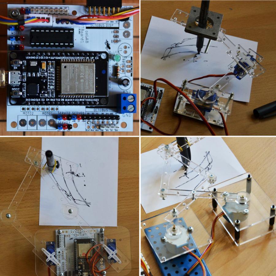 """Nejen robotické vozítko – ale i kreslítka """"draw bot"""" nebo """"polargraf"""" – a základní pokusy s ESP32"""