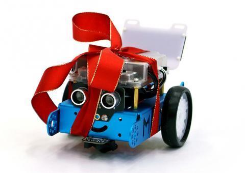 Robot mBot na Vánoce