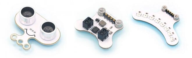 Rozšiřující moduly pro Ringbit V2 - snímač vzdálenosti, čáry, RGB LED modul