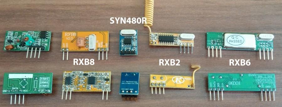 Různé bezdrátové moduly