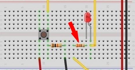 Arduino, LED a rezistor