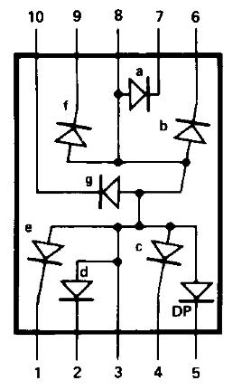 Vnitřní zapojení sedmisegmentového displeje (zdroj: https://www.gme.cz/data/attachments/dsh.512-009.1.pdf)