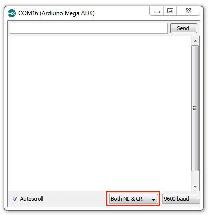 Nastavení monitoru sériové linky v Arduino IDE