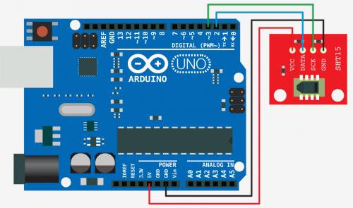 Připojení SHT15 k Arduinu