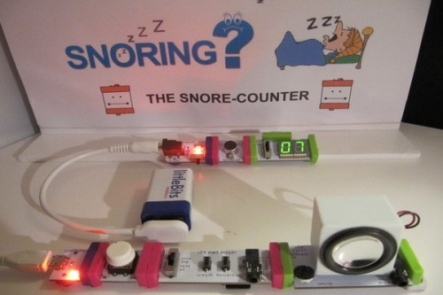 Snore counter littleBits