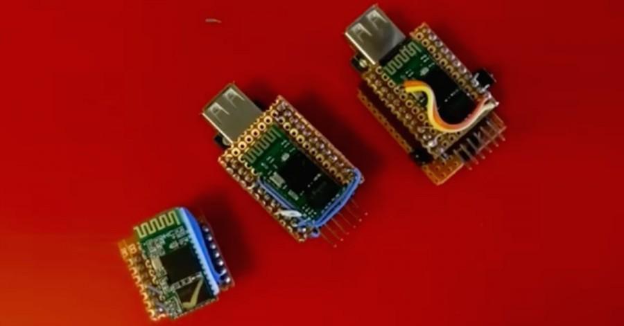 Z USB klávesnice na bezdrátovou Arduino