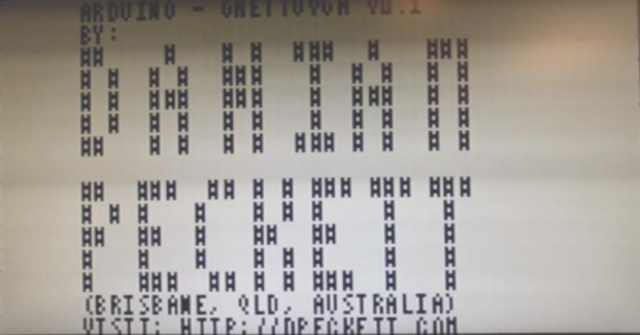 Zobrazení 32x15 znaků přes VGA na Arduinu