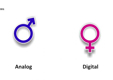 Úvodní obrázek k video popisujícímu rozdíl mezi analogovým a digitálním