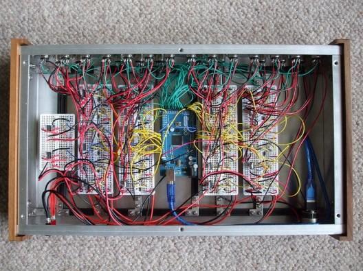 Arduino Projekt Litofon - Vnitřní zapojení