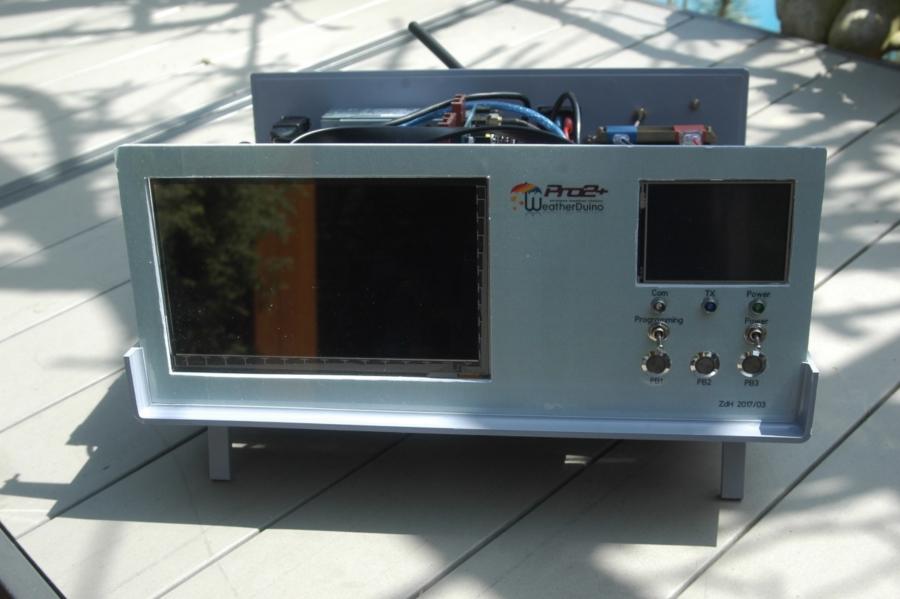 Arduino meteostanice WeatherDuino - Hotová stanice