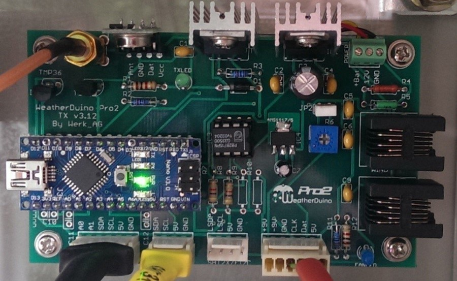 Arduino meteostanice WeatherDuino Pro 2 - TX jednotka